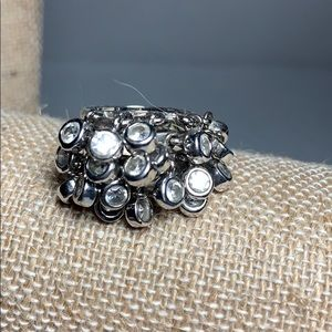 Sterling Crystal Cha Cha Ring size 6